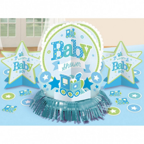 8 stk. Baby Shower Borddekoration - Dreng