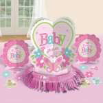 8 stk. Baby Shower Borddekoration - Pige