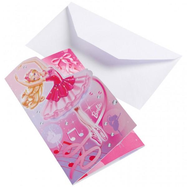 Image of   Barbie invitationer