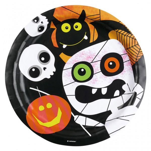 Billede af 8 Stk. Halloween Paptallerkner mumie