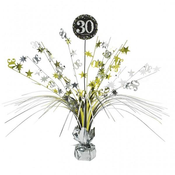 30 års Fødselsdag borddekoration: Farve - Sølv