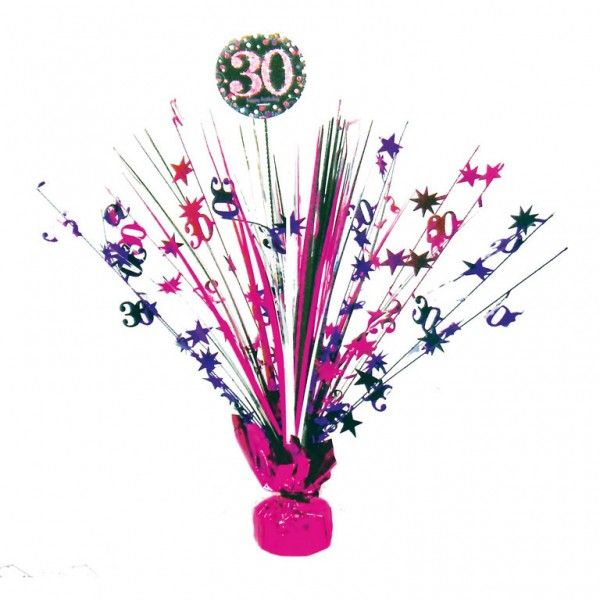 30 års Fødselsdag borddekoration: Farve - Pink