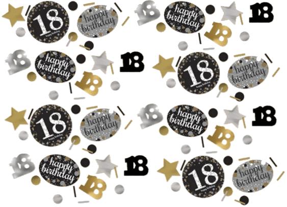 18 års Fødselsdag konfetti: Farve - Sølv