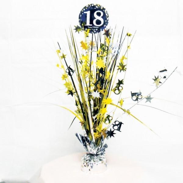 18 års Fødselsdag borddekoration: Farve - Sølv