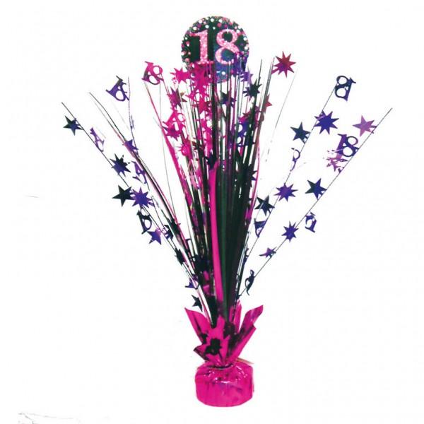 Image of   18 års Fødselsdag borddekoration: Farve - Pink