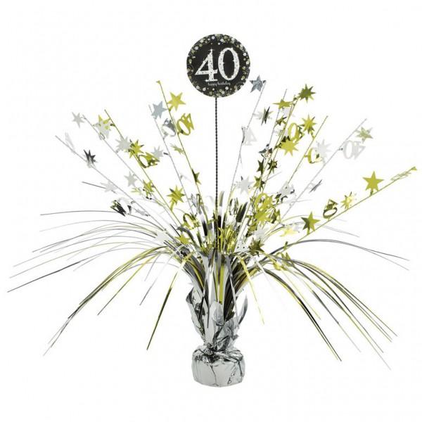 40 års Fødselsdag borddekoration: Farve - Sølv