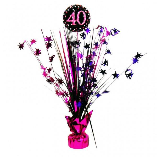 40 års Fødselsdag borddekoration: Farve - Pink