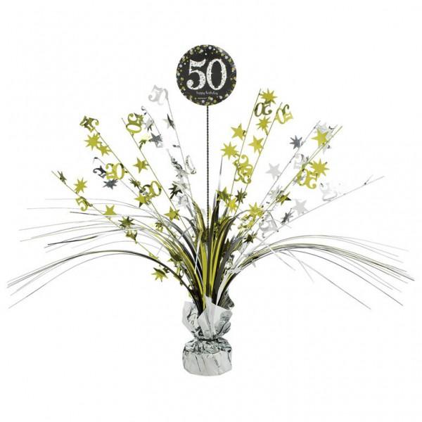 Billede af 50 års Fødselsdag borddekoration: Farve - Sølv