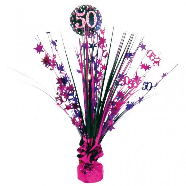 50 års Fødselsdag borddekoration: Farve - Pink