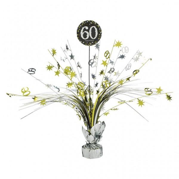 60 års Fødselsdag borddekoration: Farve - Sølv
