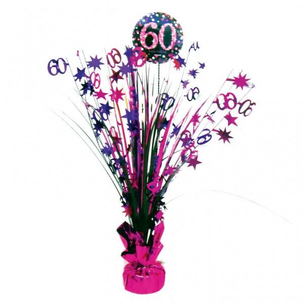 60 års Fødselsdag borddekoration: Farve - Pink