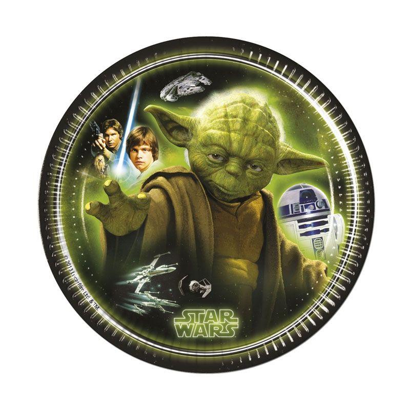 Billede af 8 Stk. Star Wars Storm Master Yoda dessert pap tallerkner