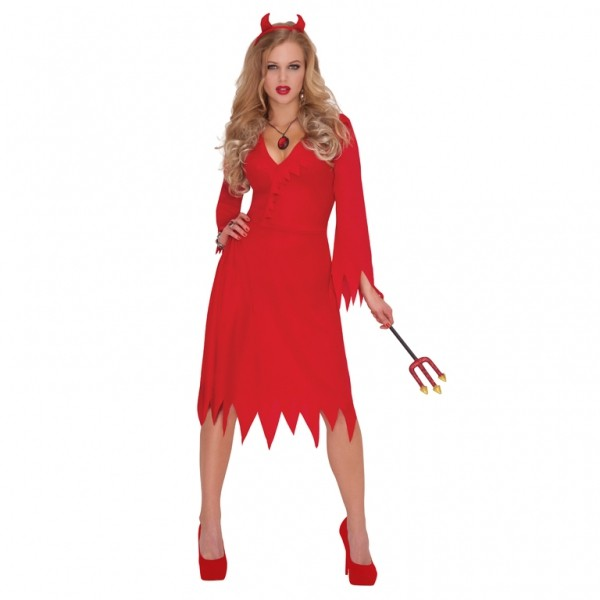 Djævle kort kjole: Størrelse - M/L