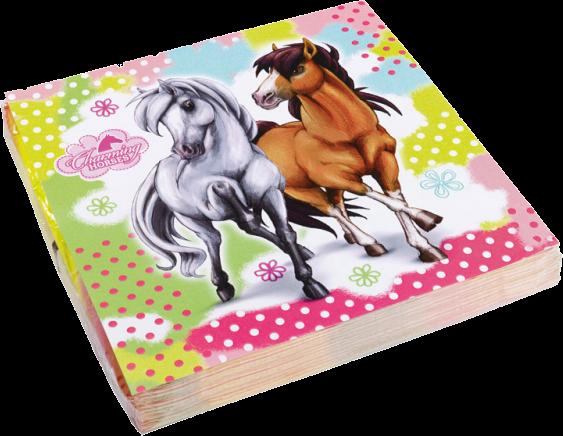 Heste servietter - Hvid og brun 20 Stk.