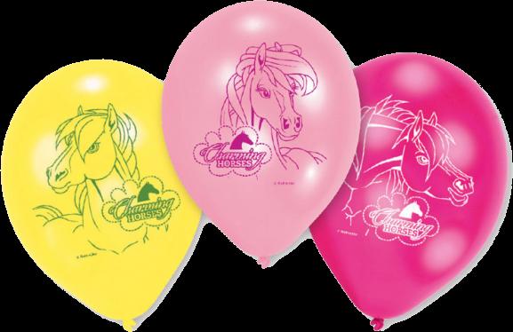 Balloner med heste 6 Stk.