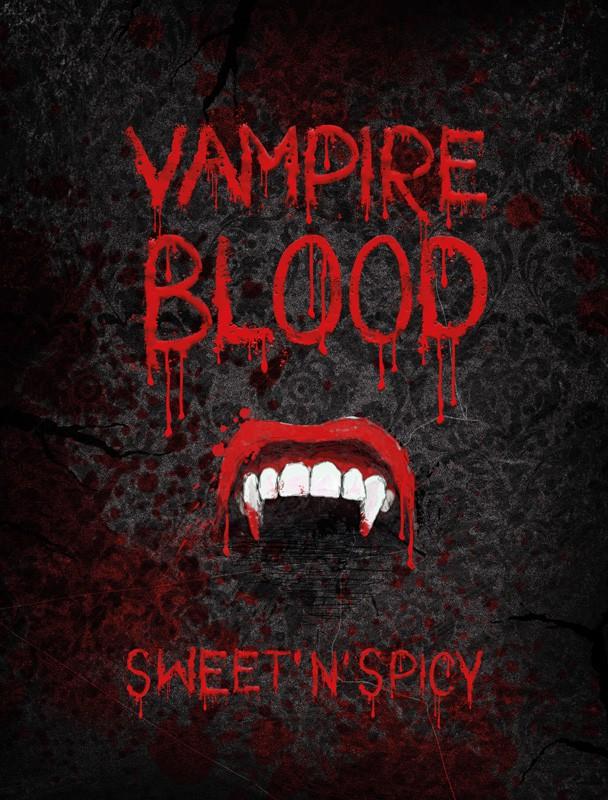 Billede af Halloween flaske etiket: Etiket - Vampire blood