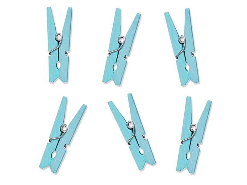 Billede af Lys blå klemme - 3,5 cm 10 Stk