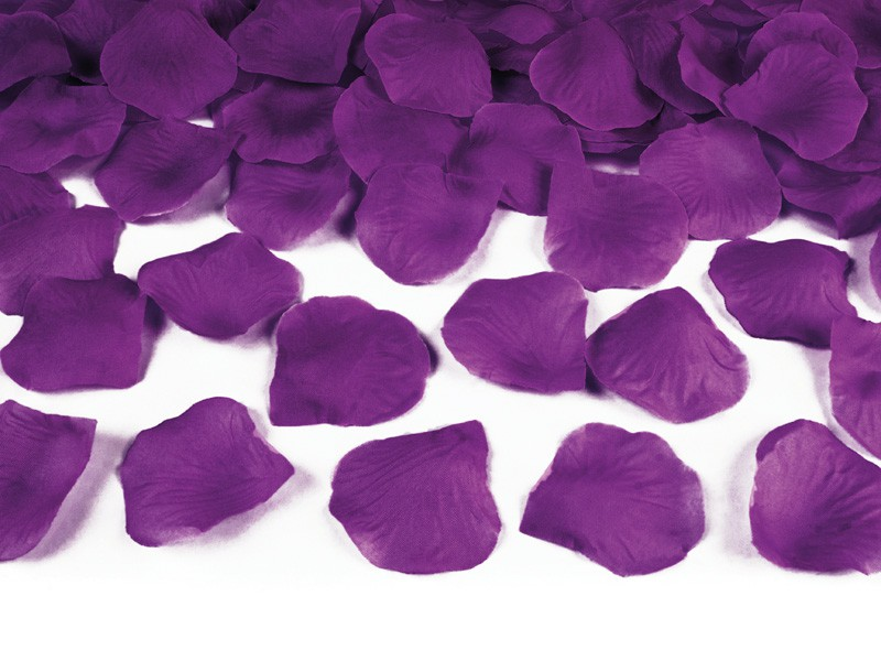 Billede af Mørk blomme rosenblade - 500 Stk.