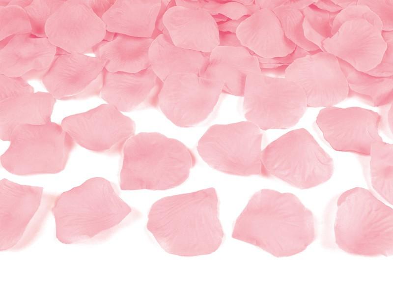 Billede af Lys pink rosenblade - 500 Stk.