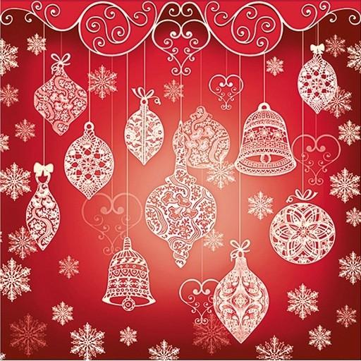 Billede af Jule servietter - klokker og kugler 20 Stk.