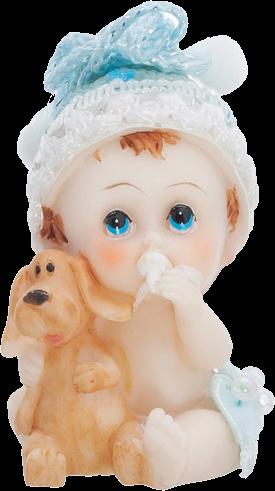 Billede af Baby dreng med hund