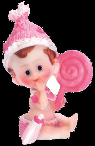 Billede af Baby pige med slikkepind