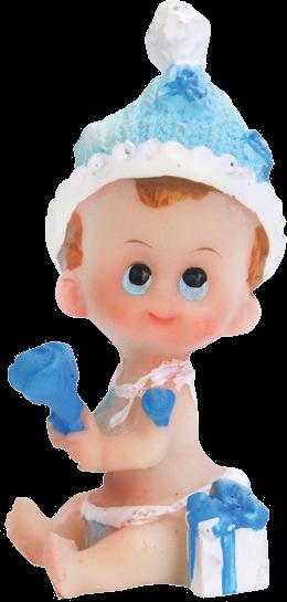 Billede af Baby dreng med rangle