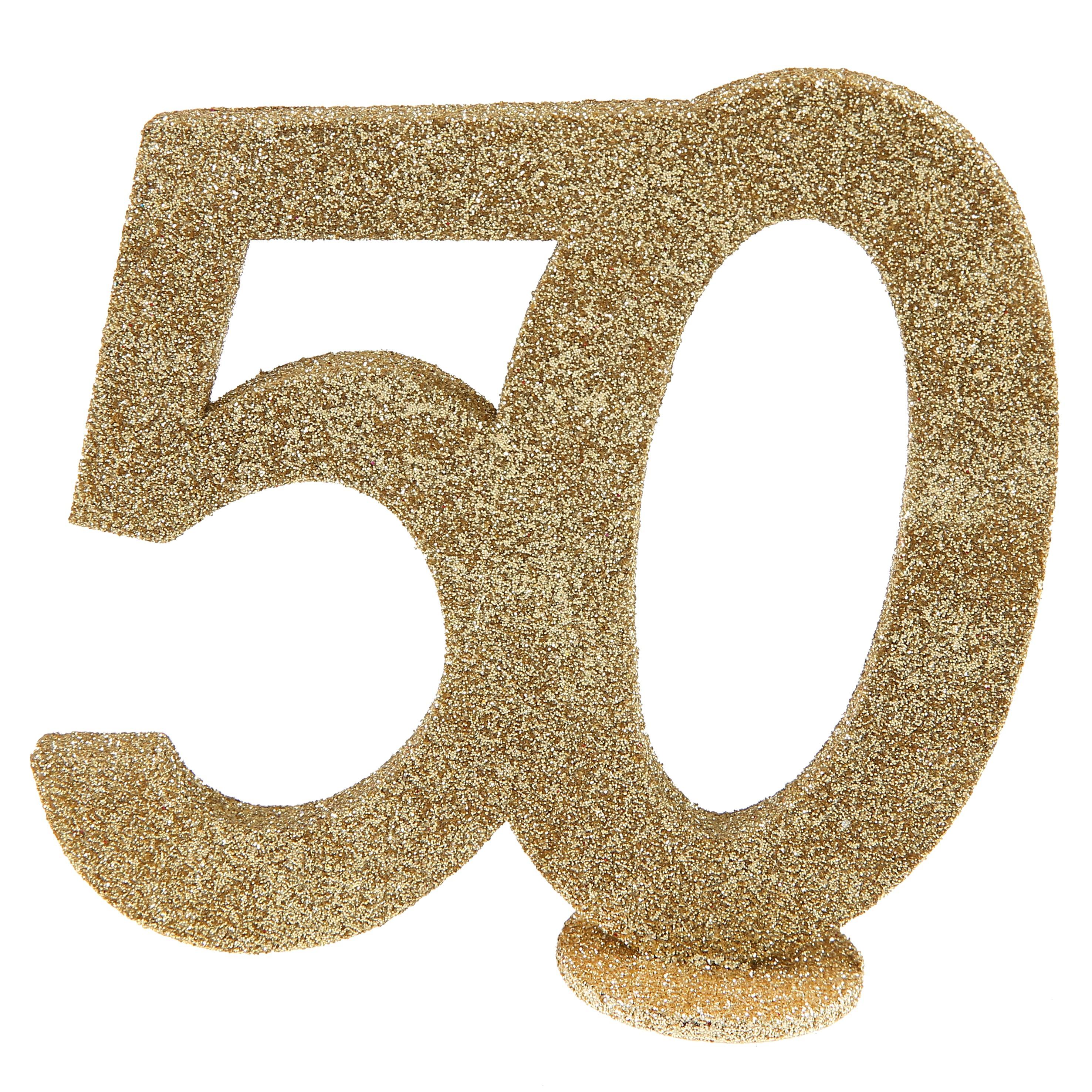 50 års tal 50 års glimmer tal   Guld   Festbyen 50 års tal