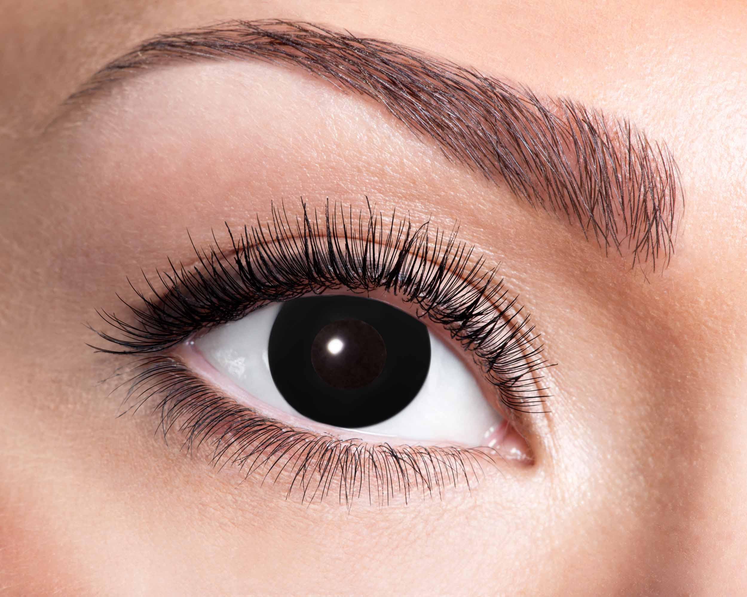 Billede af Sorte kontaktlinser