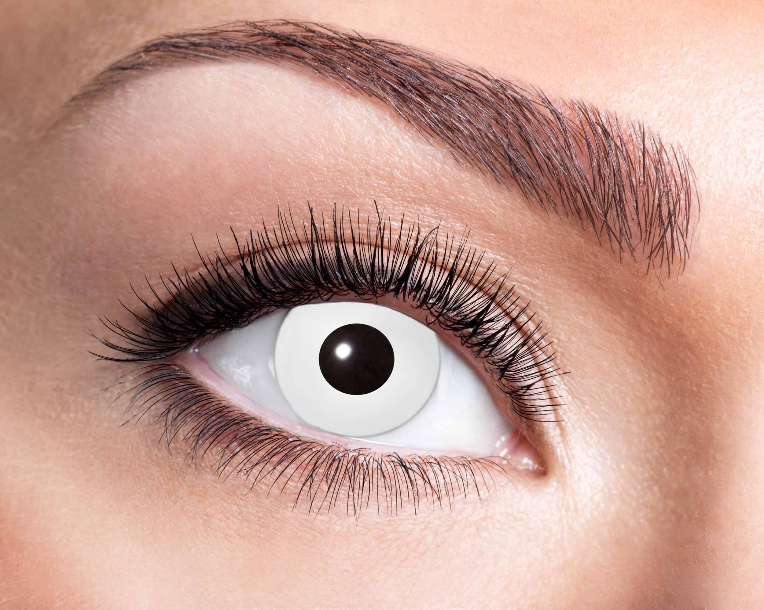 Billede af Hvide kontaktlinser