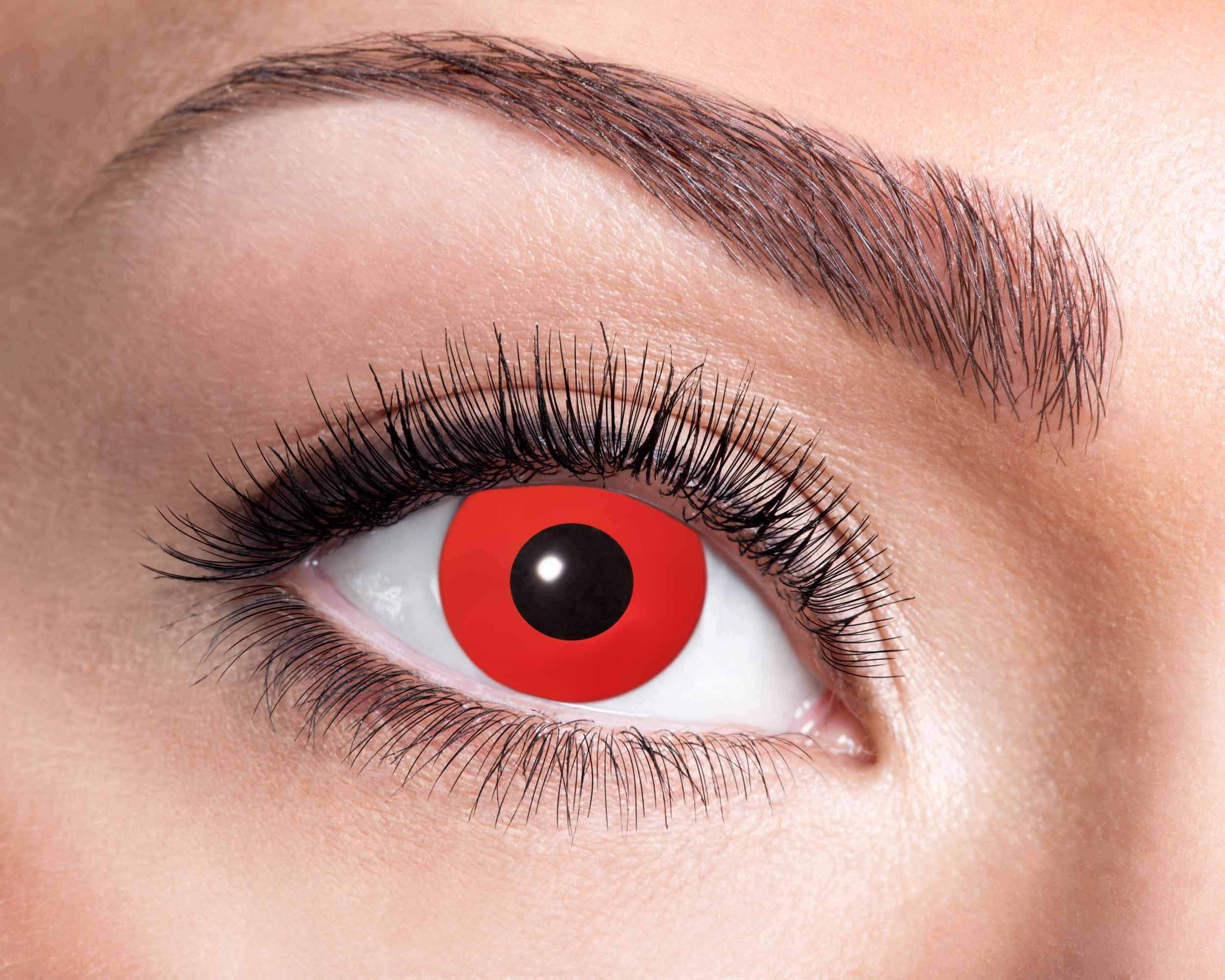 Billede af Røde kontaktlinser