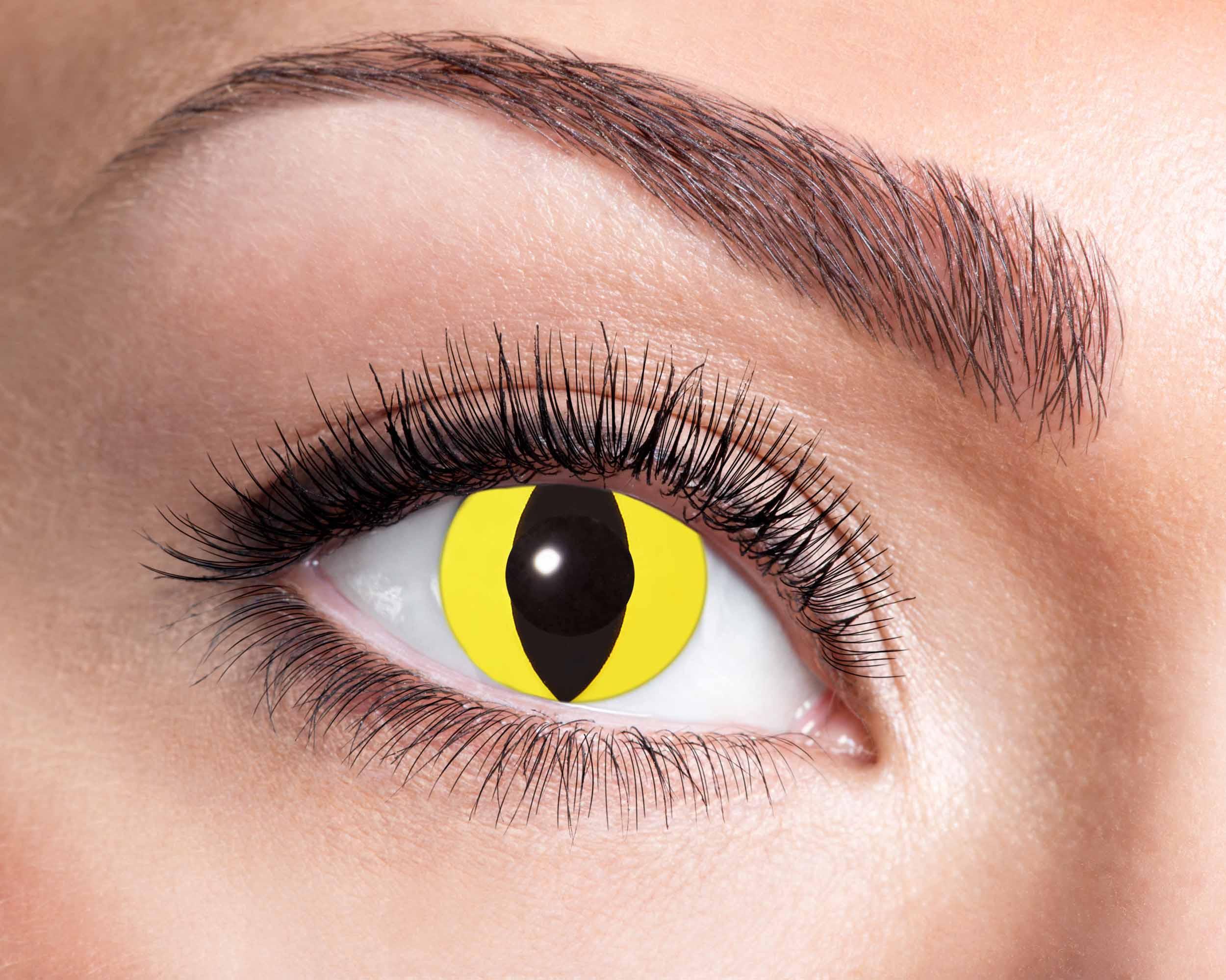 Billede af Gule katteøjne kontaktlinser