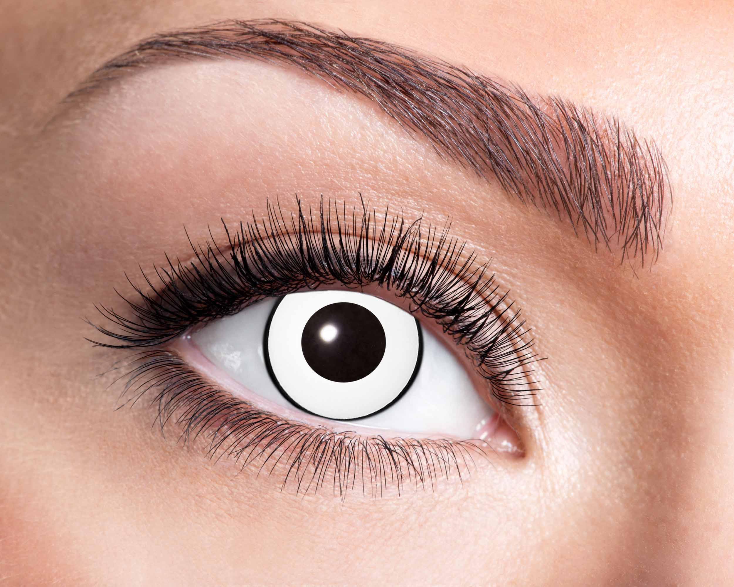 Billede af Hvide kontaktlinser med sort kant
