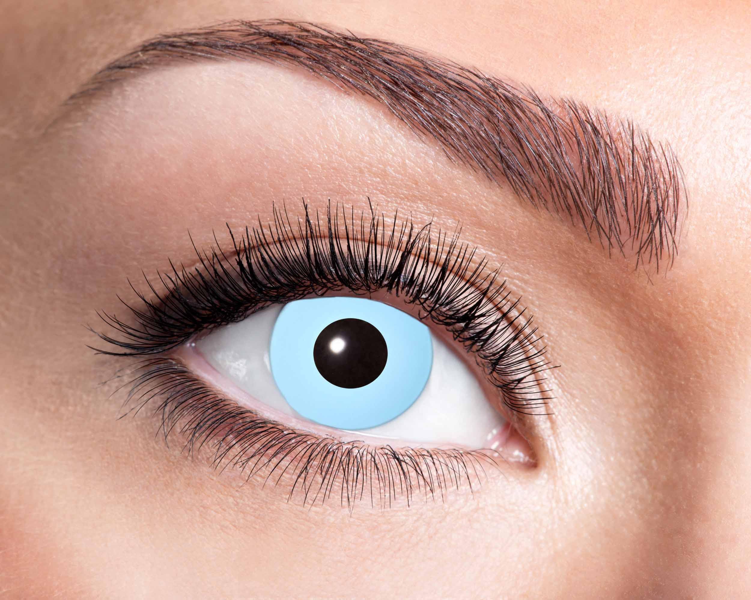 Billede af Lys blå kontaktlinser