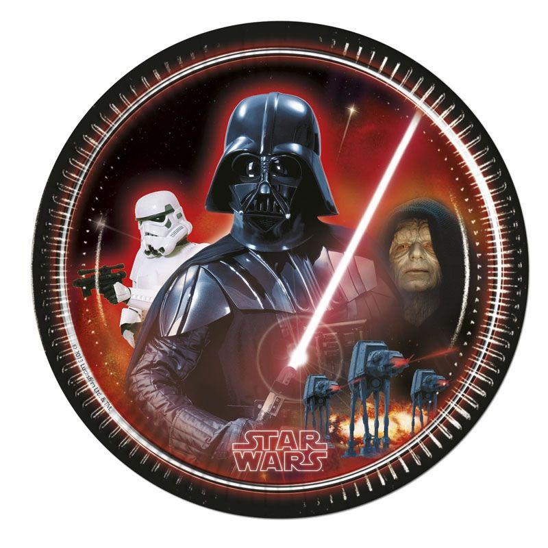 Billede af 8 Stk. Star Wars retro tallerkner