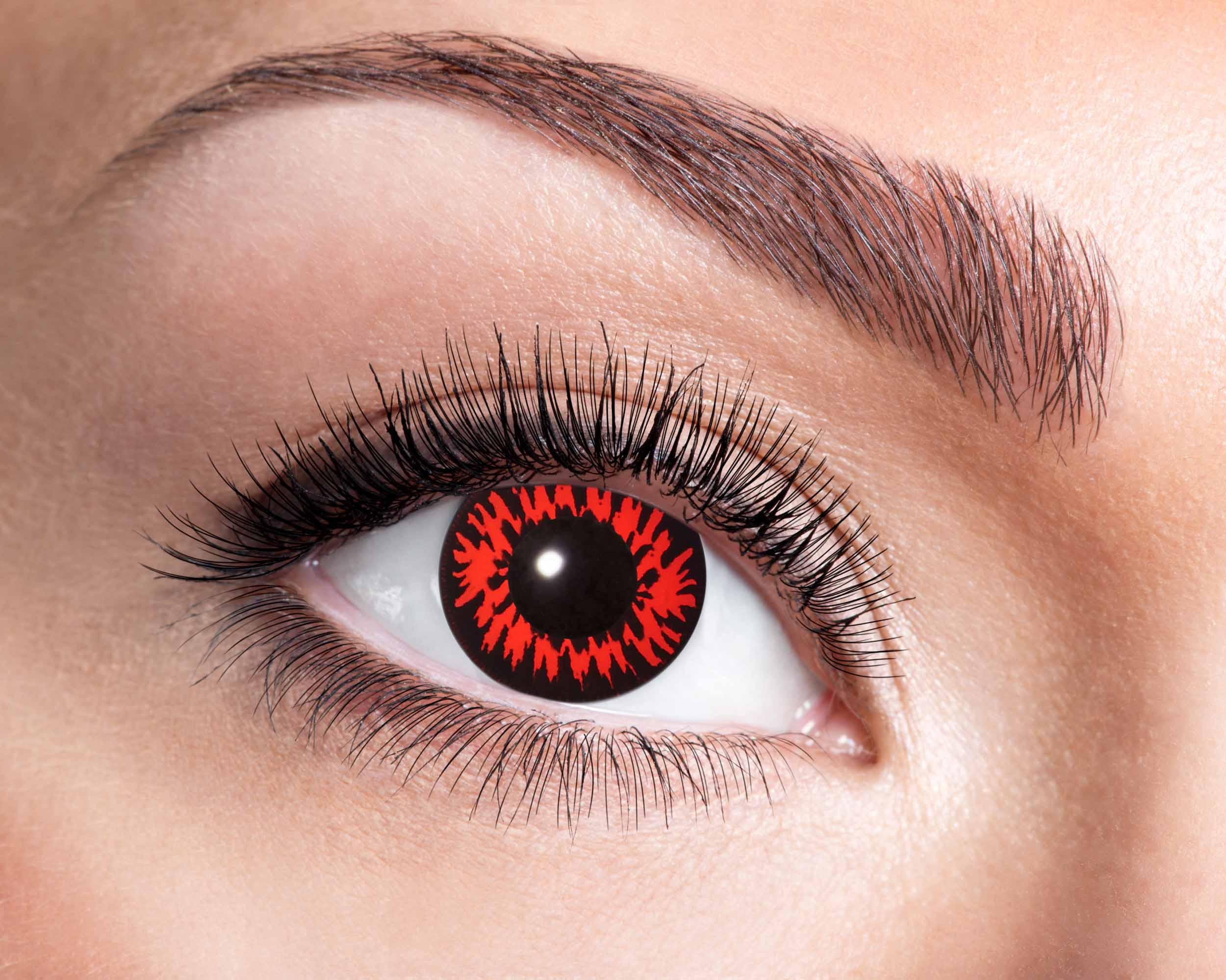 Billede af Rød ulv kontaktlinser