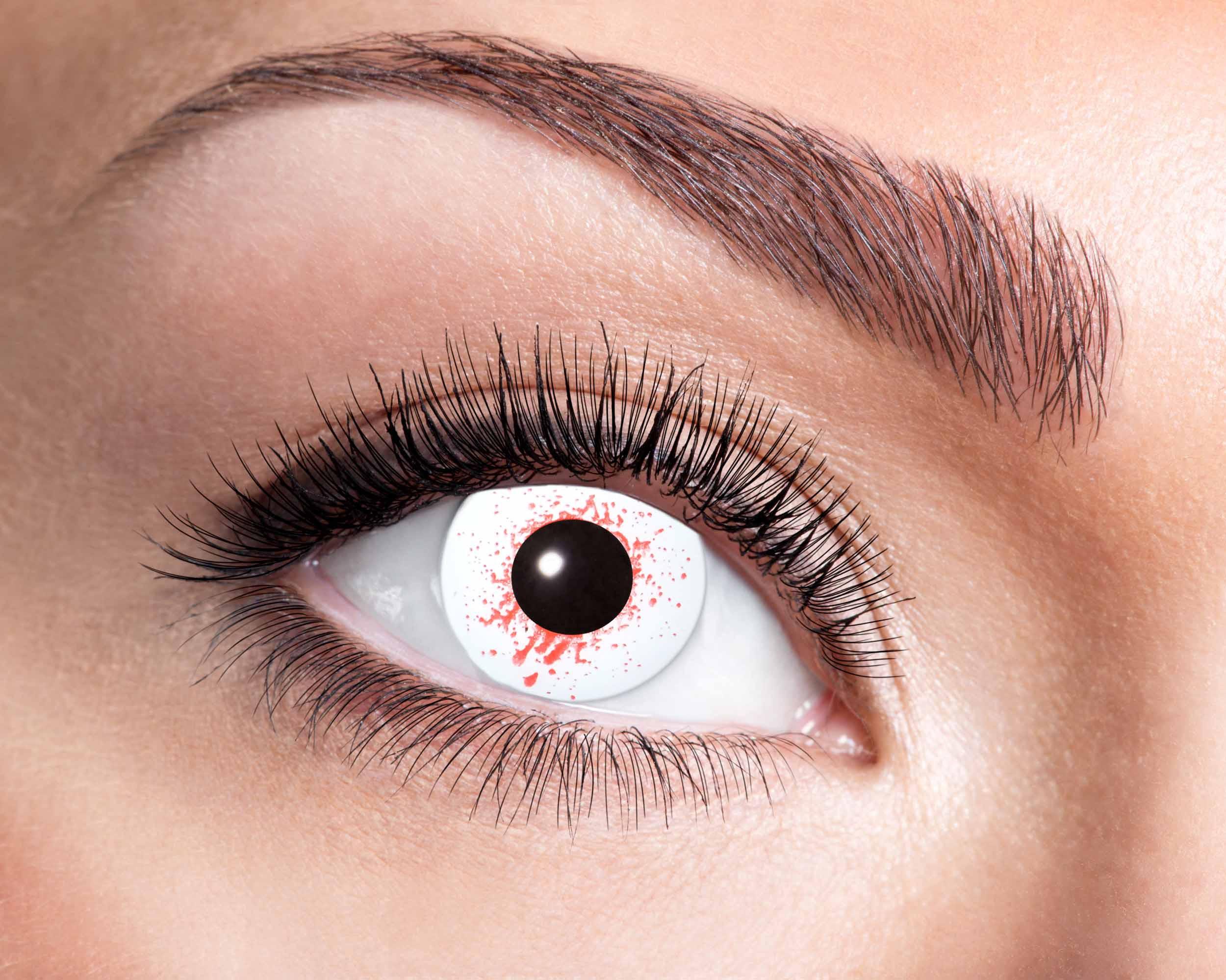 Billede af Blodskudt kontaktlinser