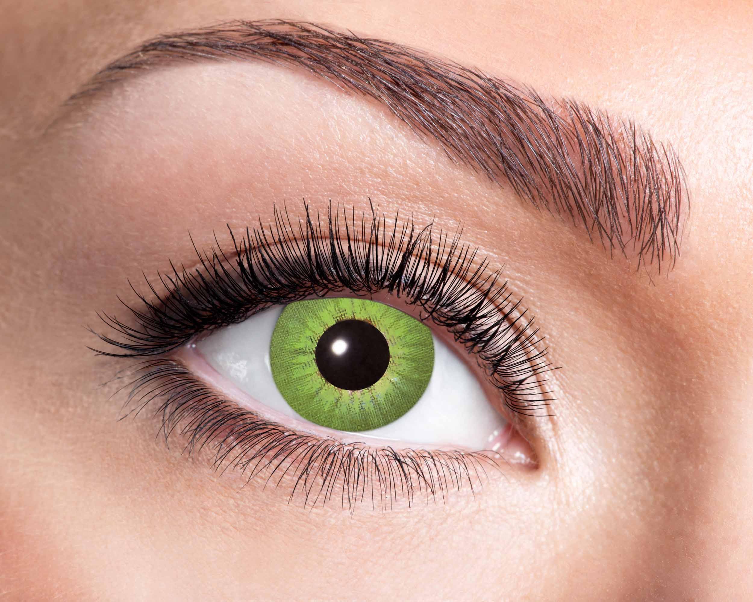 Billede af Elektro grøn kontaktlinser