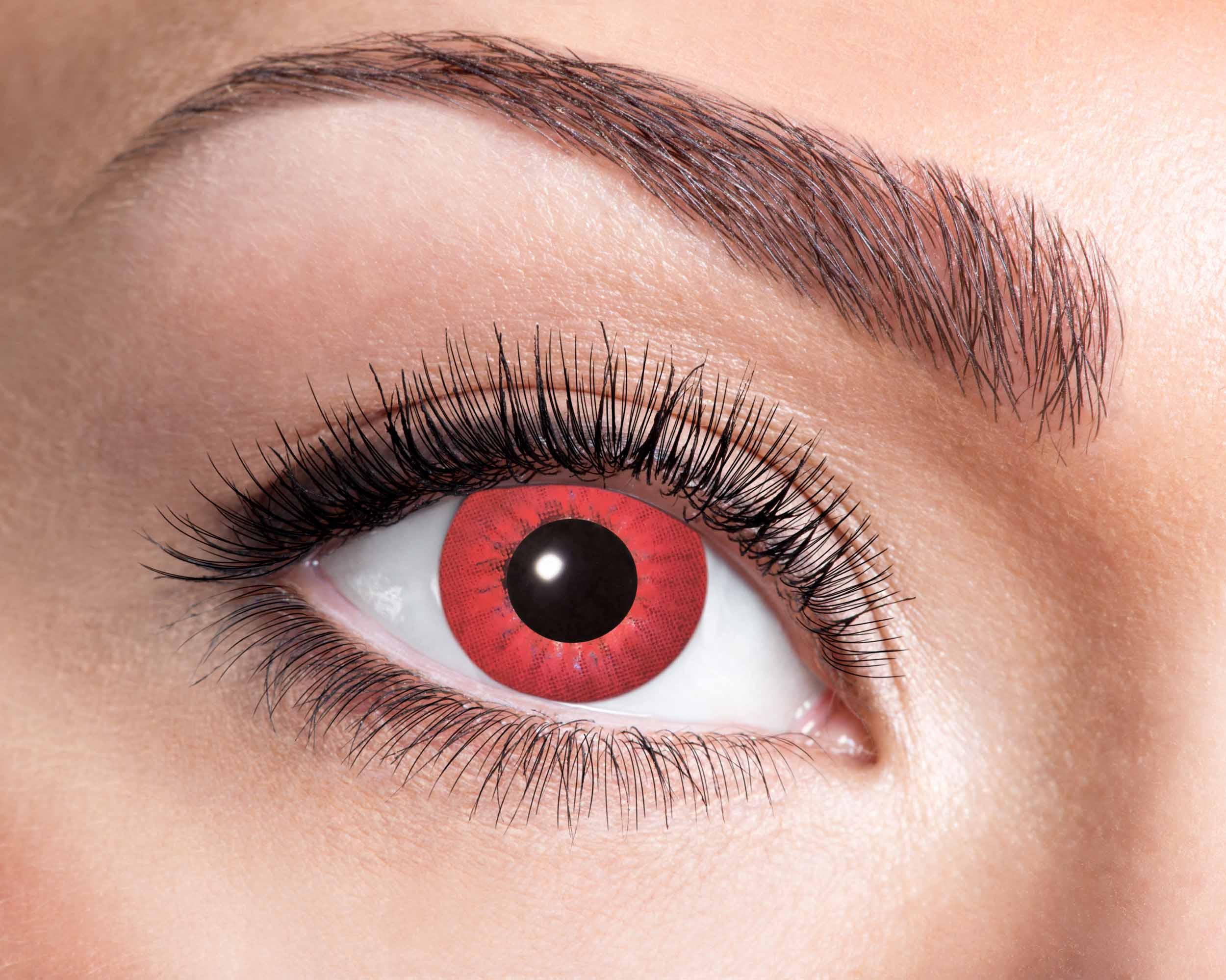 Billede af Elektro rød kontaktlinser