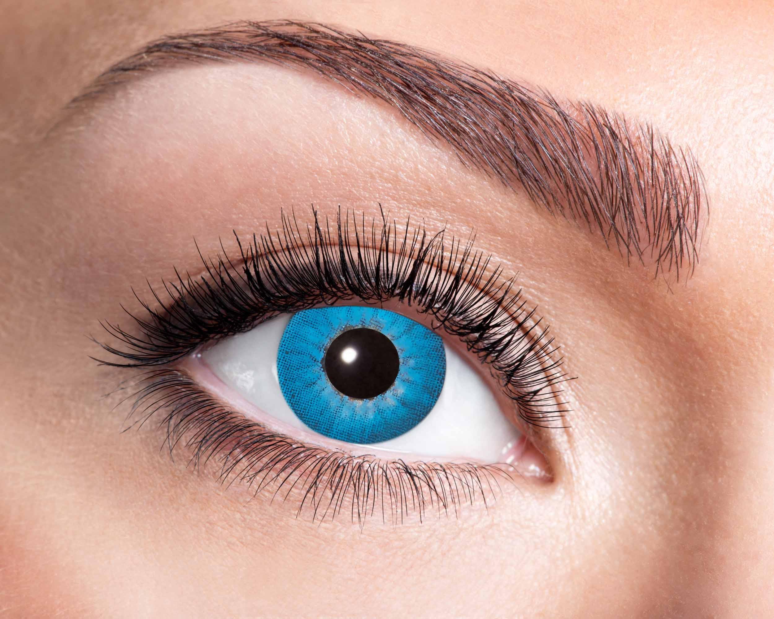 Billede af Elektro blå kontaktlinser