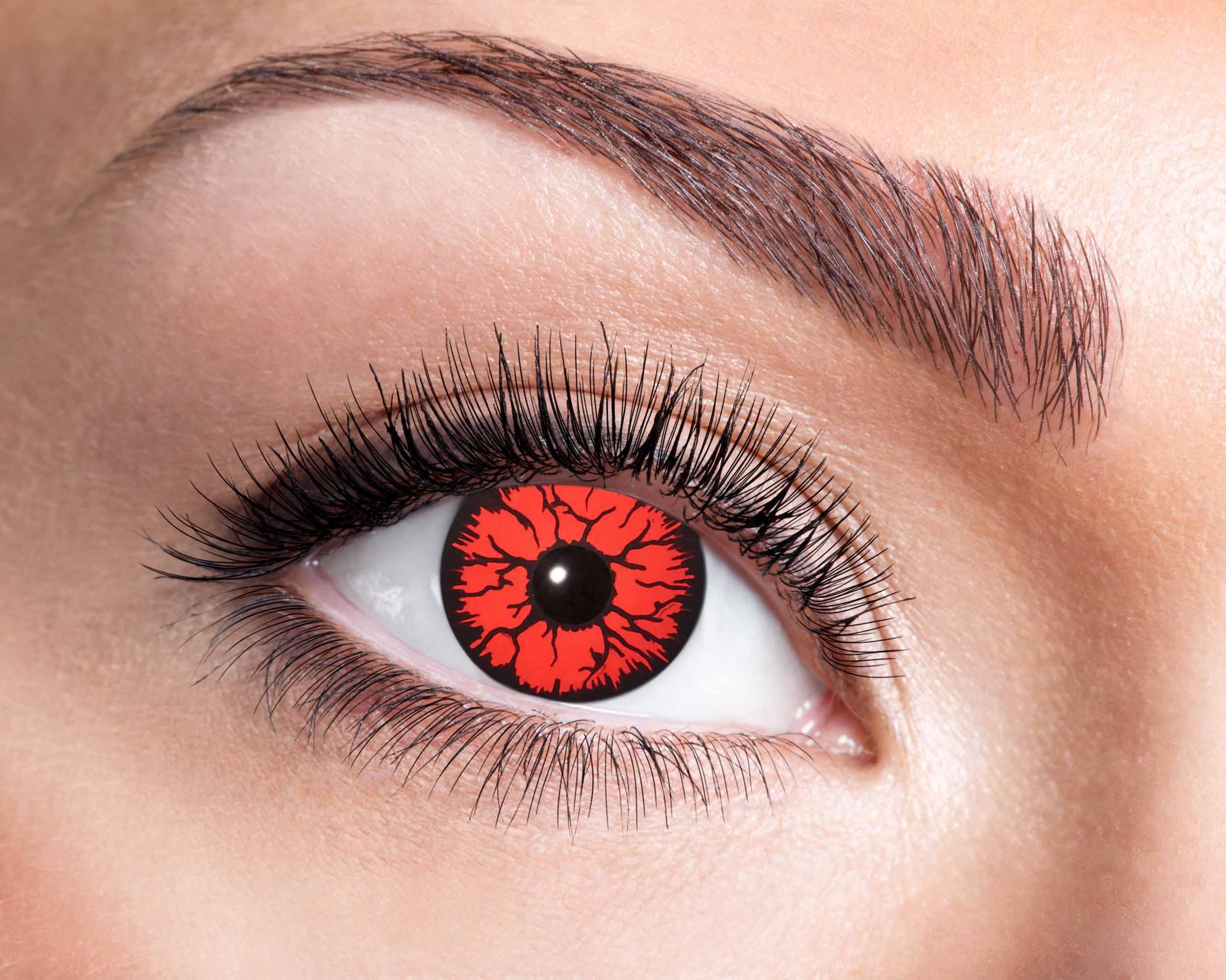 Billede af Rød lava kontaktlinser