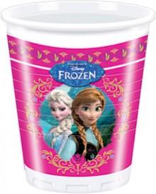 Billede af 8 Stk. Frost plastik krus, Anna og Elsa