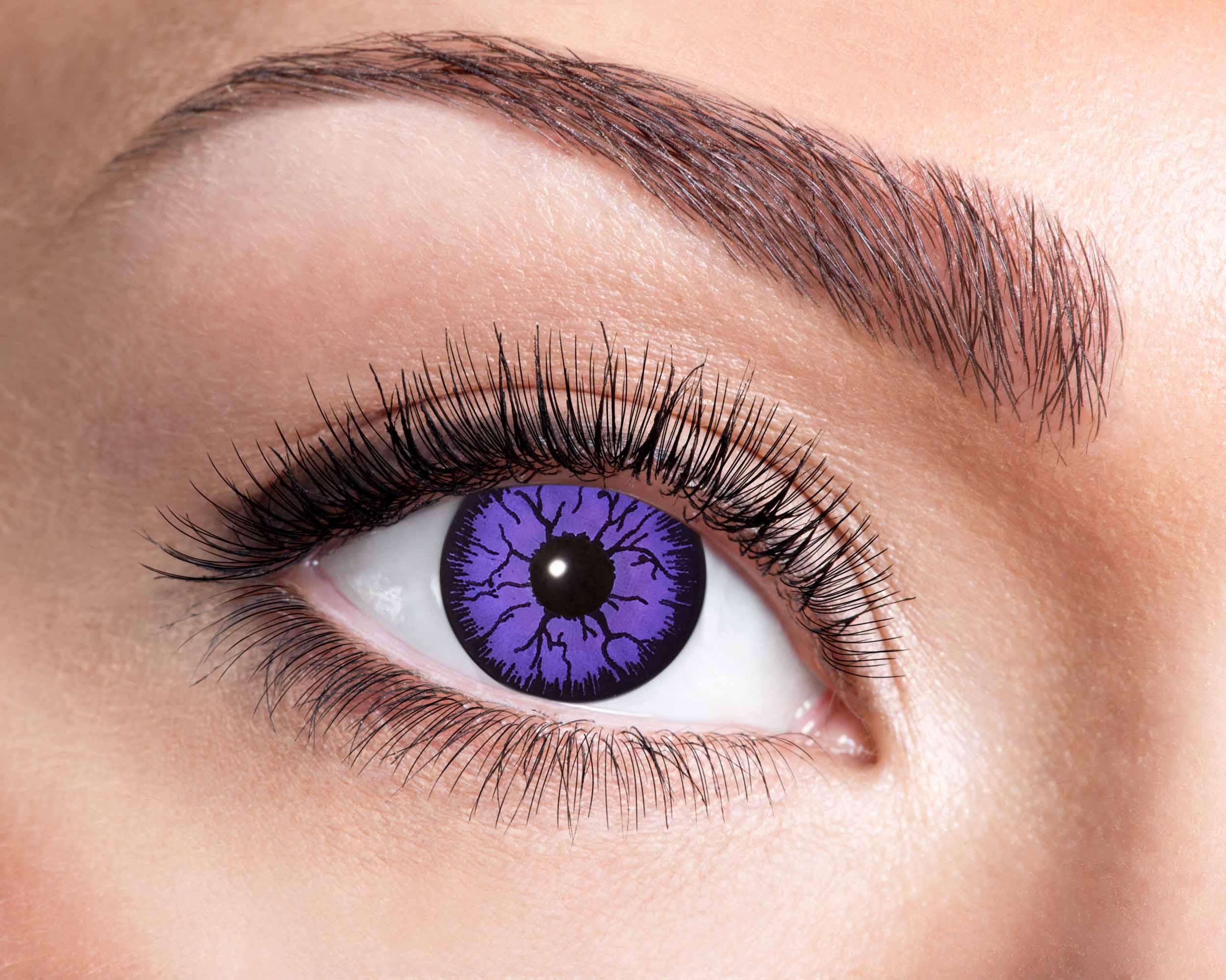 Billede af Lilla monster kontaktlinser
