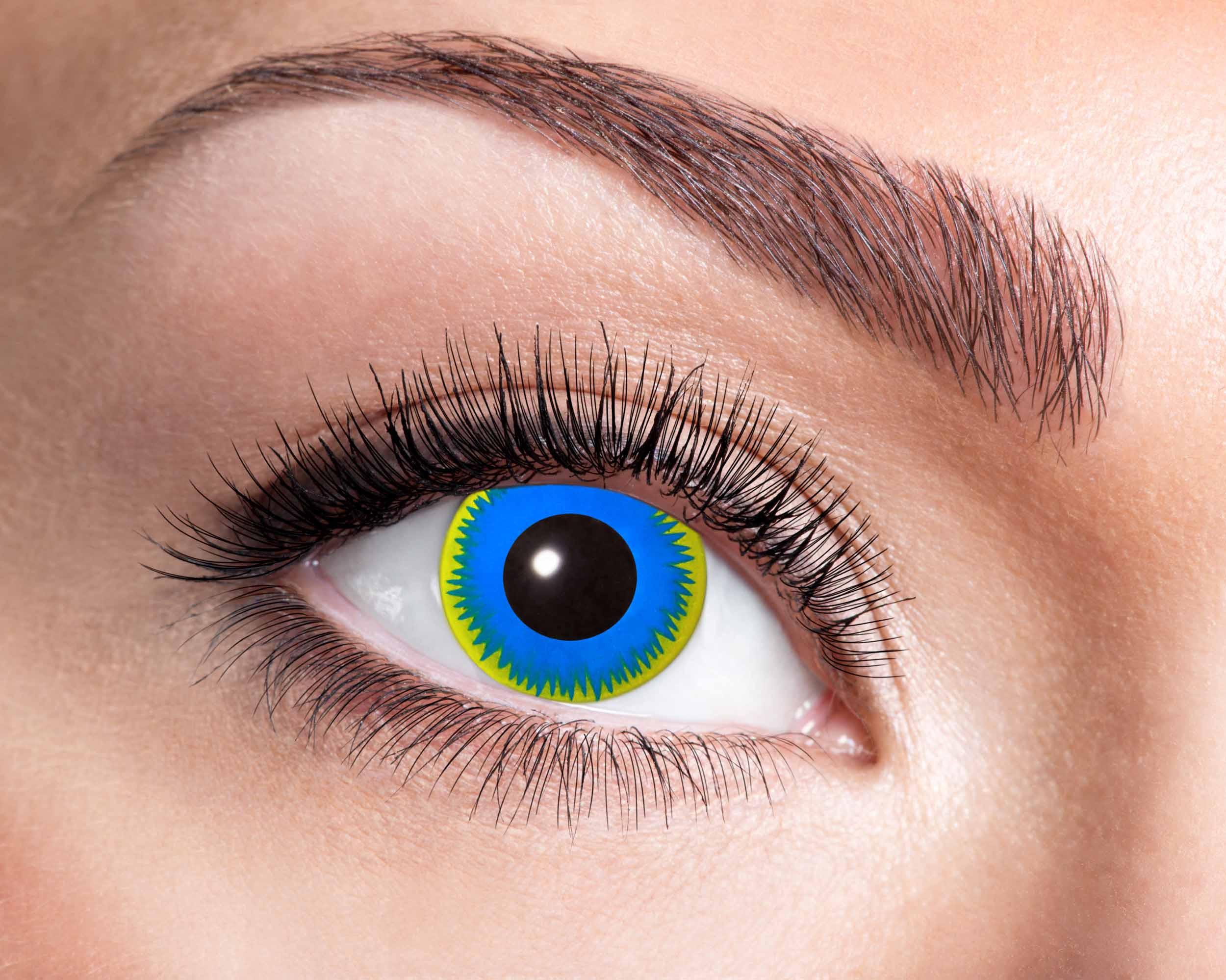 Billede af Blå sol kontaktlinser