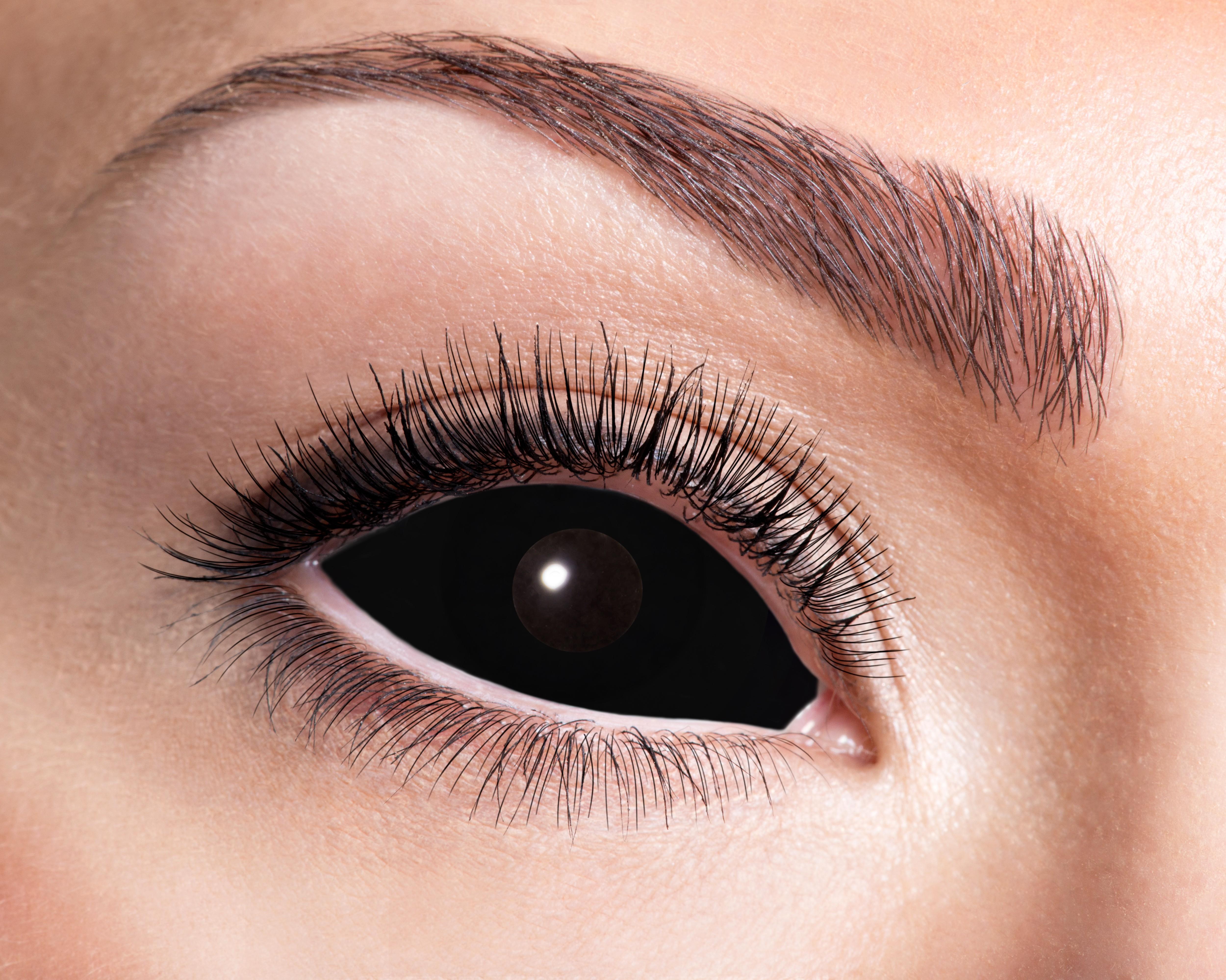 Sort sclera kontaktlinser
