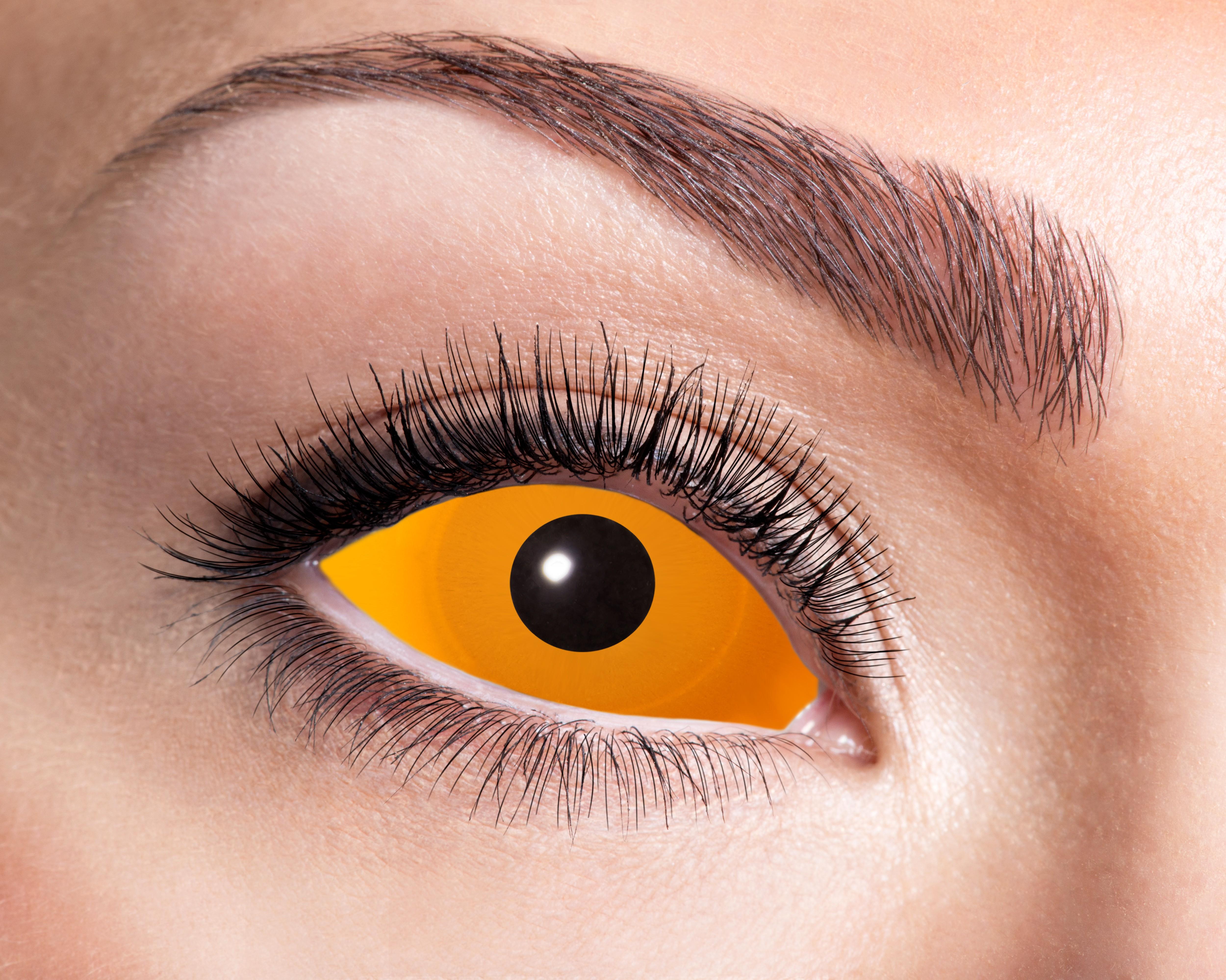Billede af Orange sclera kontaktlinser sæt med 2 stk