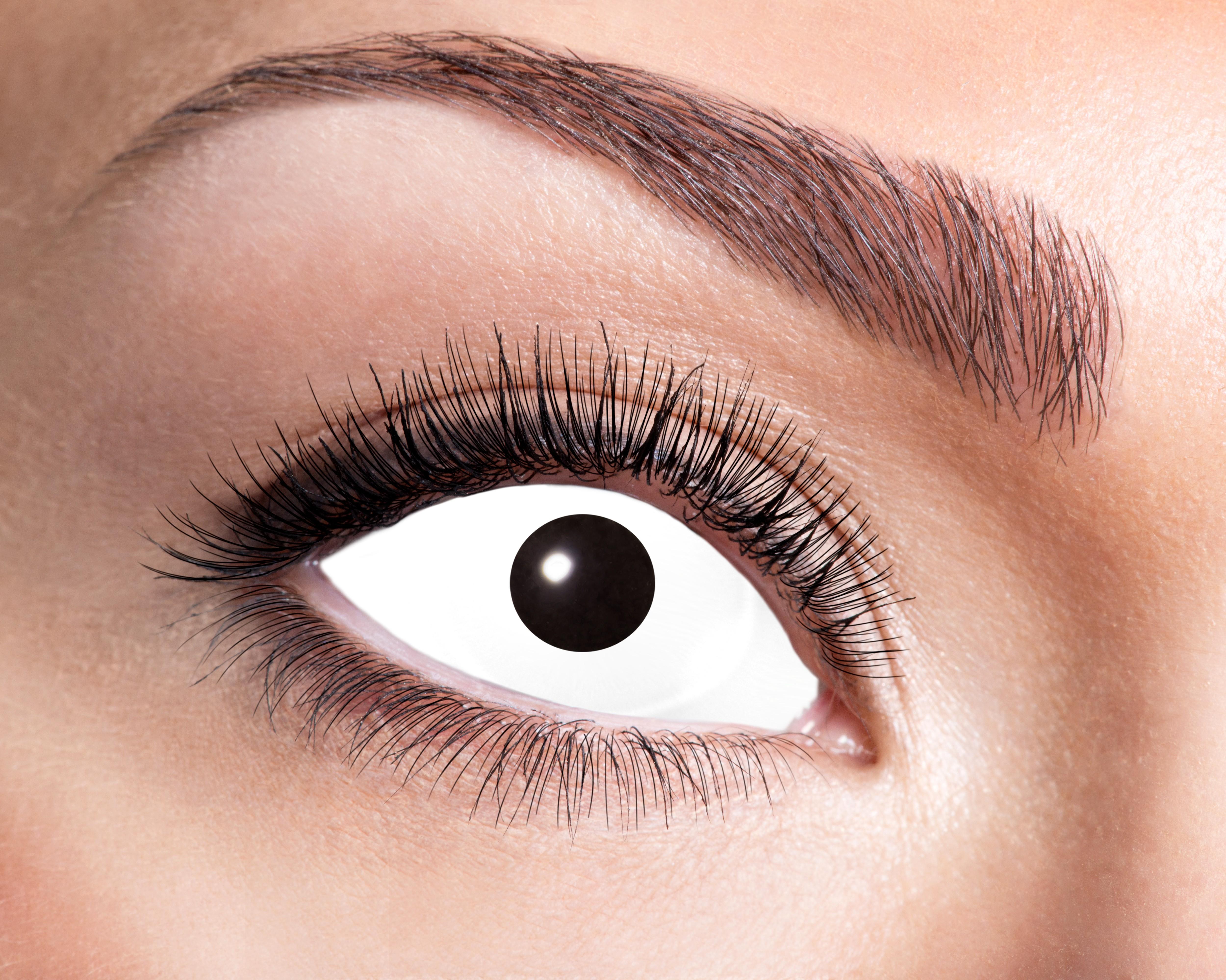 Billede af Hvid sclera kontaktlinser - Sæt med 2 stk