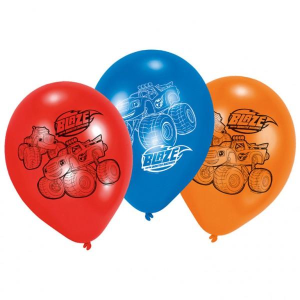 Billede af Blaze og Monstermaskinerne Balloner - 6 Stk.