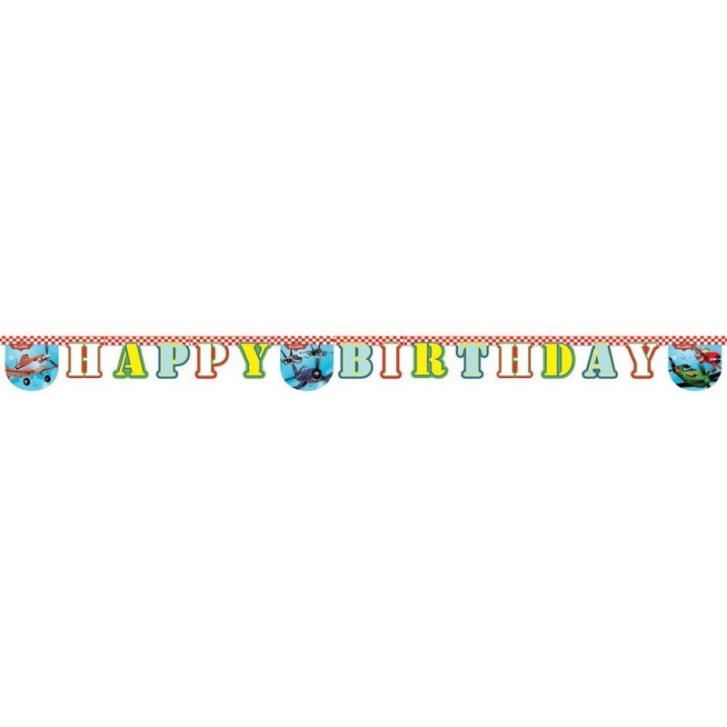 Biler happy birthday banner, ræs
