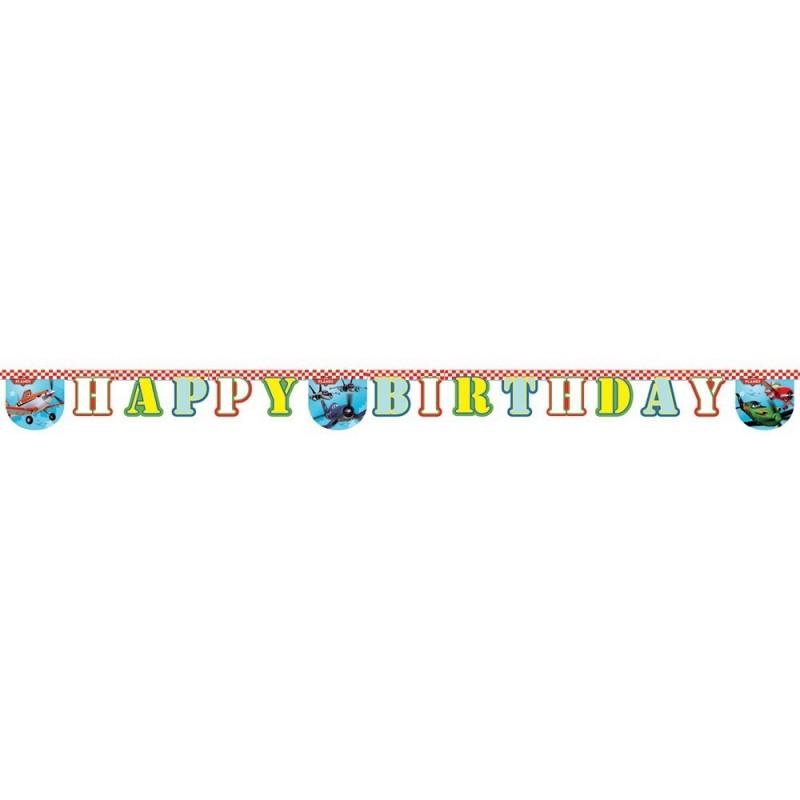 Billede af Flyvemaskiner fødselsdags banner